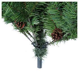 Christmas tree 210 cm slim memory shape green with Norimberga pinecones s5
