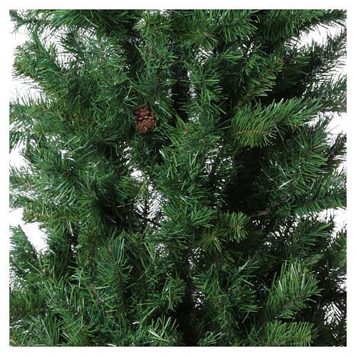 Christmas tree 210 cm slim memory shape green with Norimberga pinecones 2