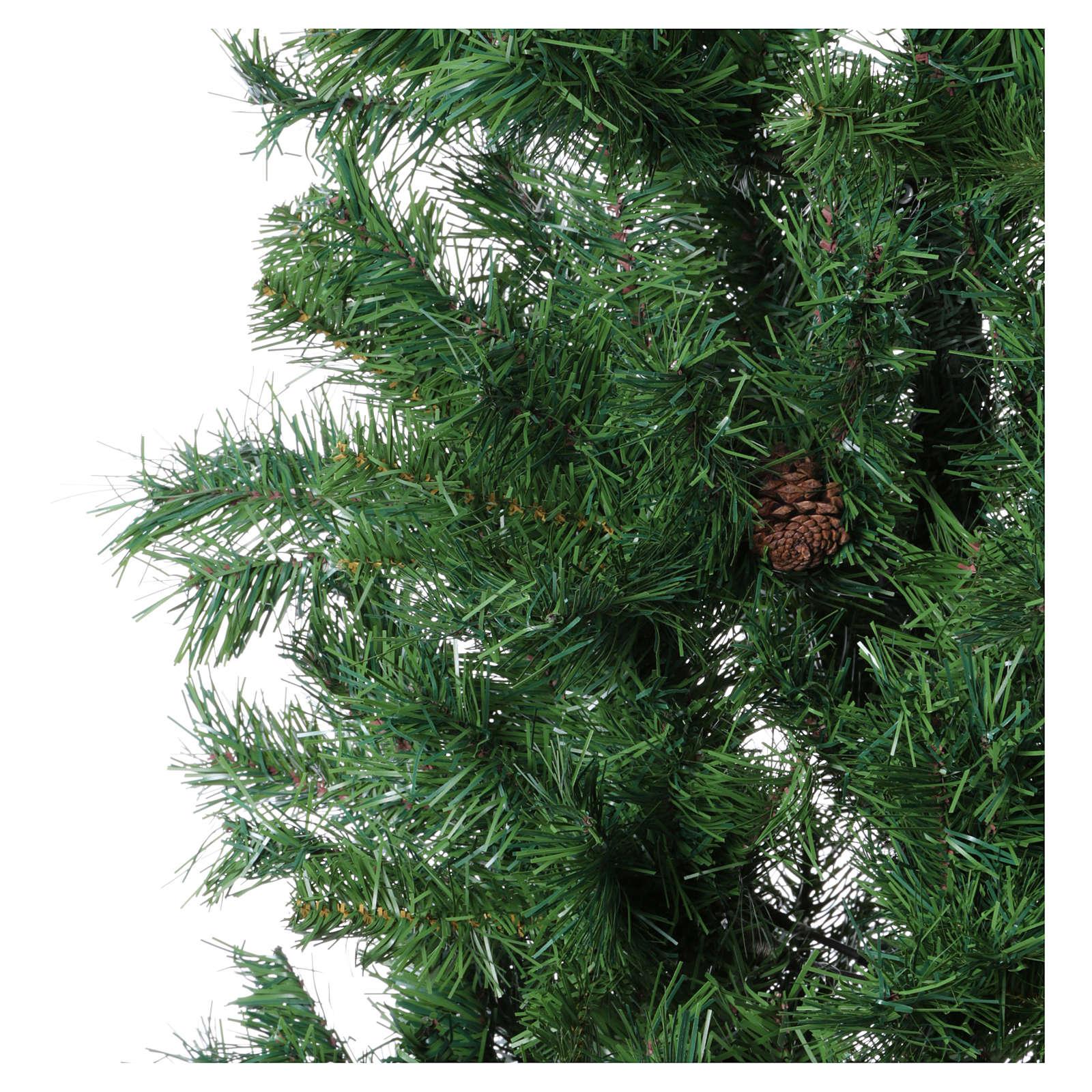 Albero di Natale slim verde con pigne 230 cm memory shape Norimberga 3