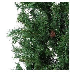 Albero di Natale slim verde con pigne 230 cm memory shape Norimberga s3