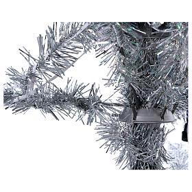 Albero di Natale 270 cm Vintage Silver 500 luci led uso interno esterno s3