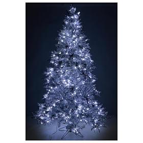 Albero di Natale 270 cm Vintage Silver 500 luci led uso interno esterno s5