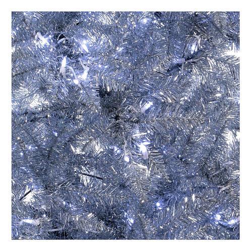 Albero di Natale 270 cm Vintage Silver 500 luci led uso interno esterno 4