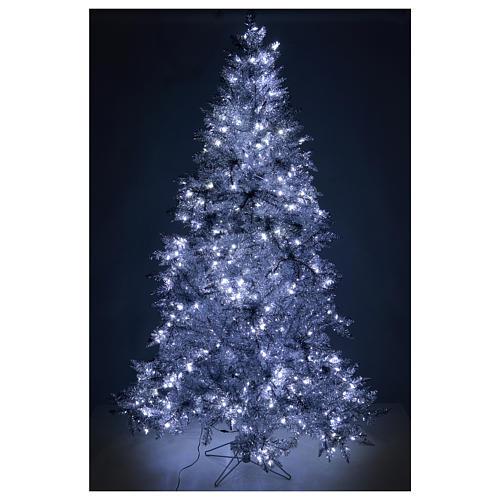 Albero di Natale 270 cm Vintage Silver 500 luci led uso interno esterno 5