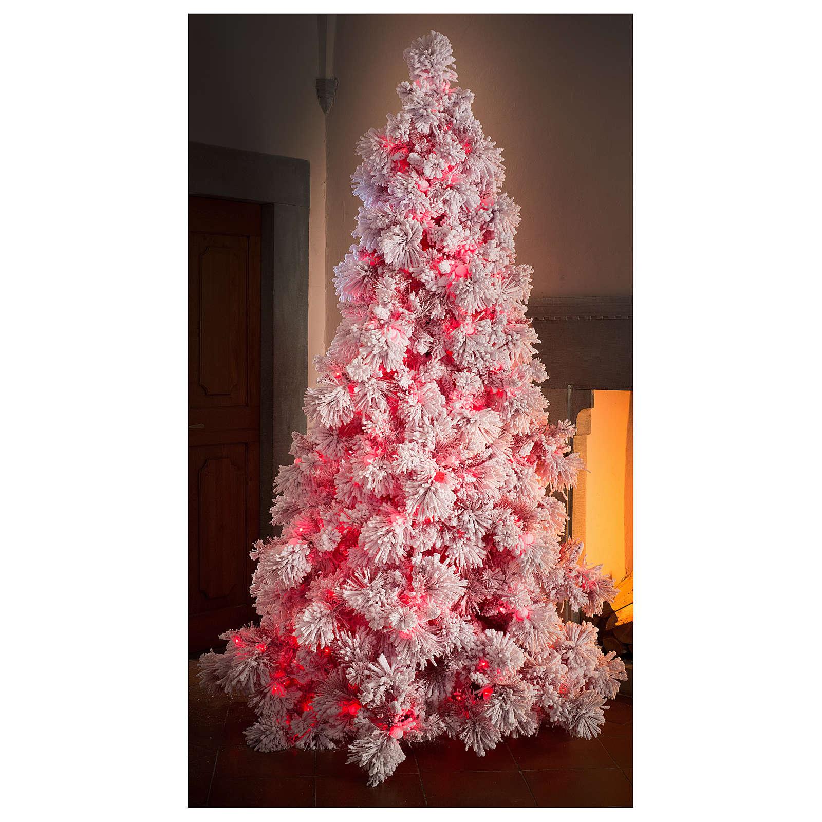 Albero Di Natale 500 Cm.Albero Di Natale 230 Cm Red Velvet Abete Innevato 500 Luci Led Uso Interno Vendita Online Su Holyart