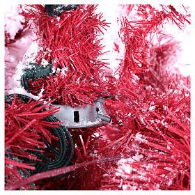 Albero di Natale 230 cm Red Velvet abete innevato 500 luci led uso interno s5