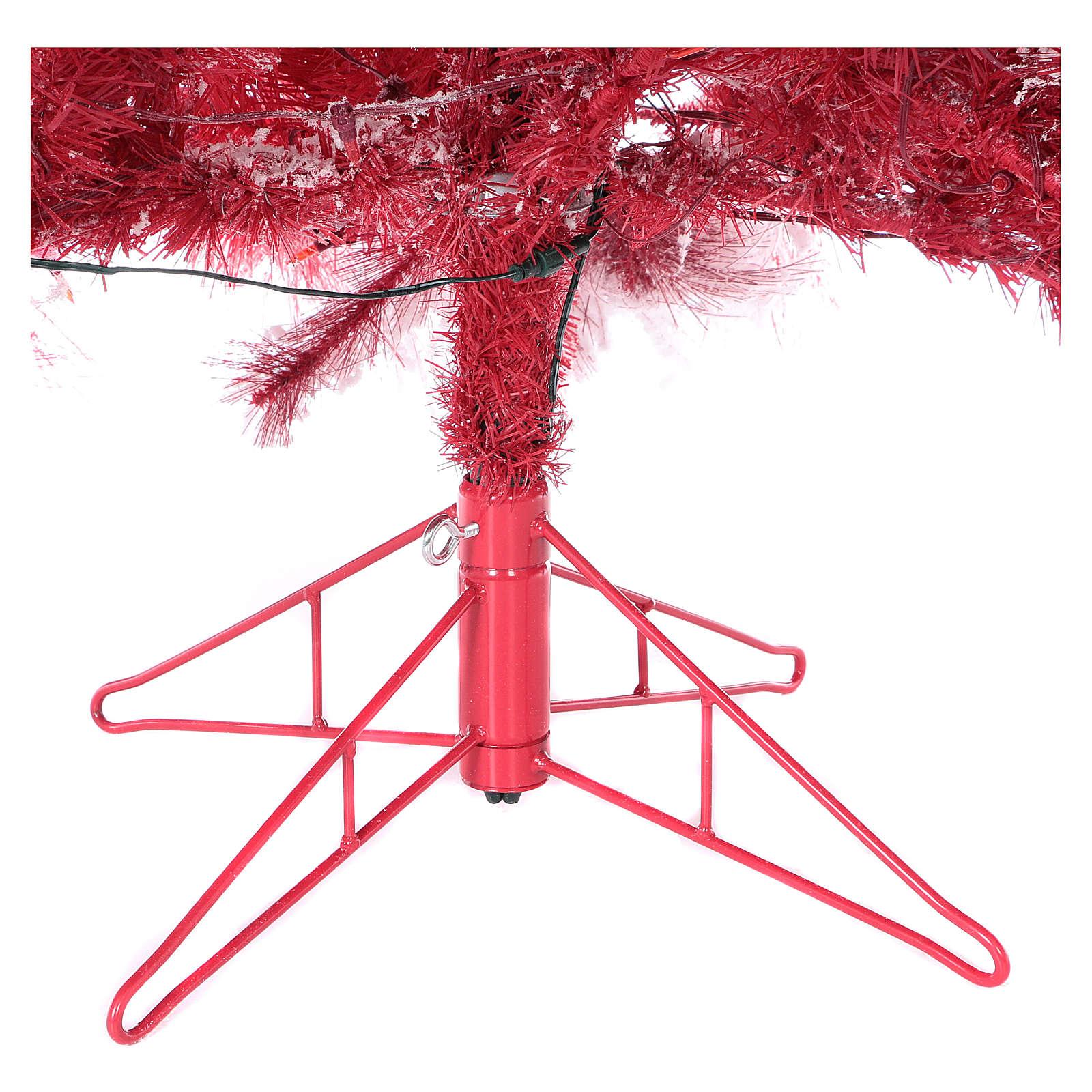 Albero di Natale 270 cm Red Velvet abete innevato 700 luci led interno 3