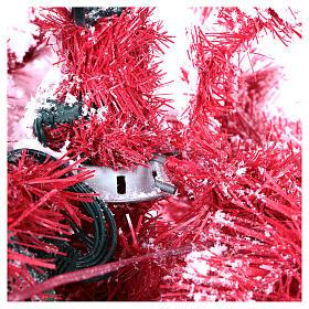 Albero di Natale 270 cm Red Velvet abete innevato 700 luci led interno s3