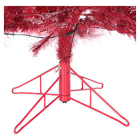 Albero di Natale 270 cm Red Velvet abete innevato 700 luci led interno s6