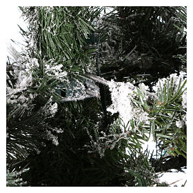 Arbol de Navidad 230 cm pino nevado con piñas naturales 450 LED para interior feel-real s5