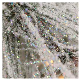 Arbol de Navidad 230 cm pino nevado con piñas naturales 450 LED para interior feel-real s6