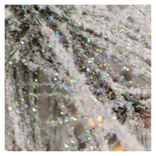 Arbol de Navidad 230 cm pino nevado con piñas naturales 450 LED para interior feel-real 6