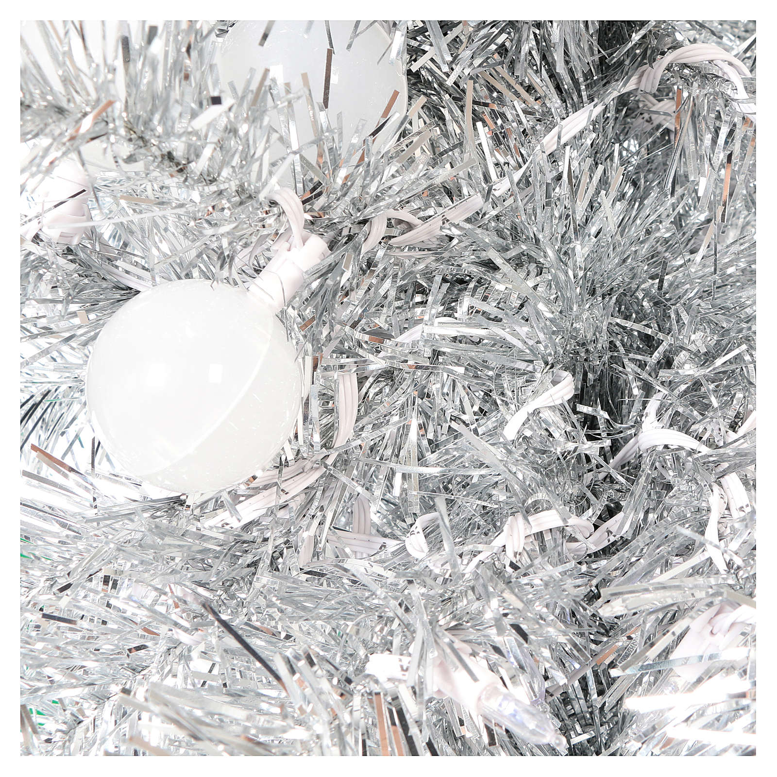 Albero di Natale 180 cm Fancy Silver abete argento punta modellabile 300 led interno esterno 3