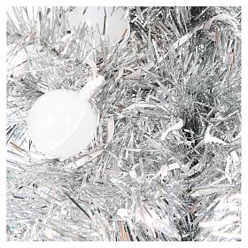 Albero di Natale 180 cm Fancy Silver abete argento punta modellabile 300 led interno esterno s3