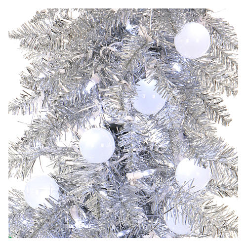 Christmas Tree 180 cm Silver fir tip mouldable 300 leds inside 2