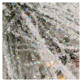 Albero di Natale 340 cm pino innevato con pigne naturali 1000 luci eco led interno feel real s7