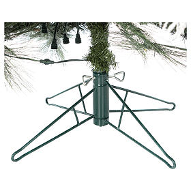 Albero di Natale 340 cm pino innevato con pigne naturali 1000 luci eco led interno feel real s9