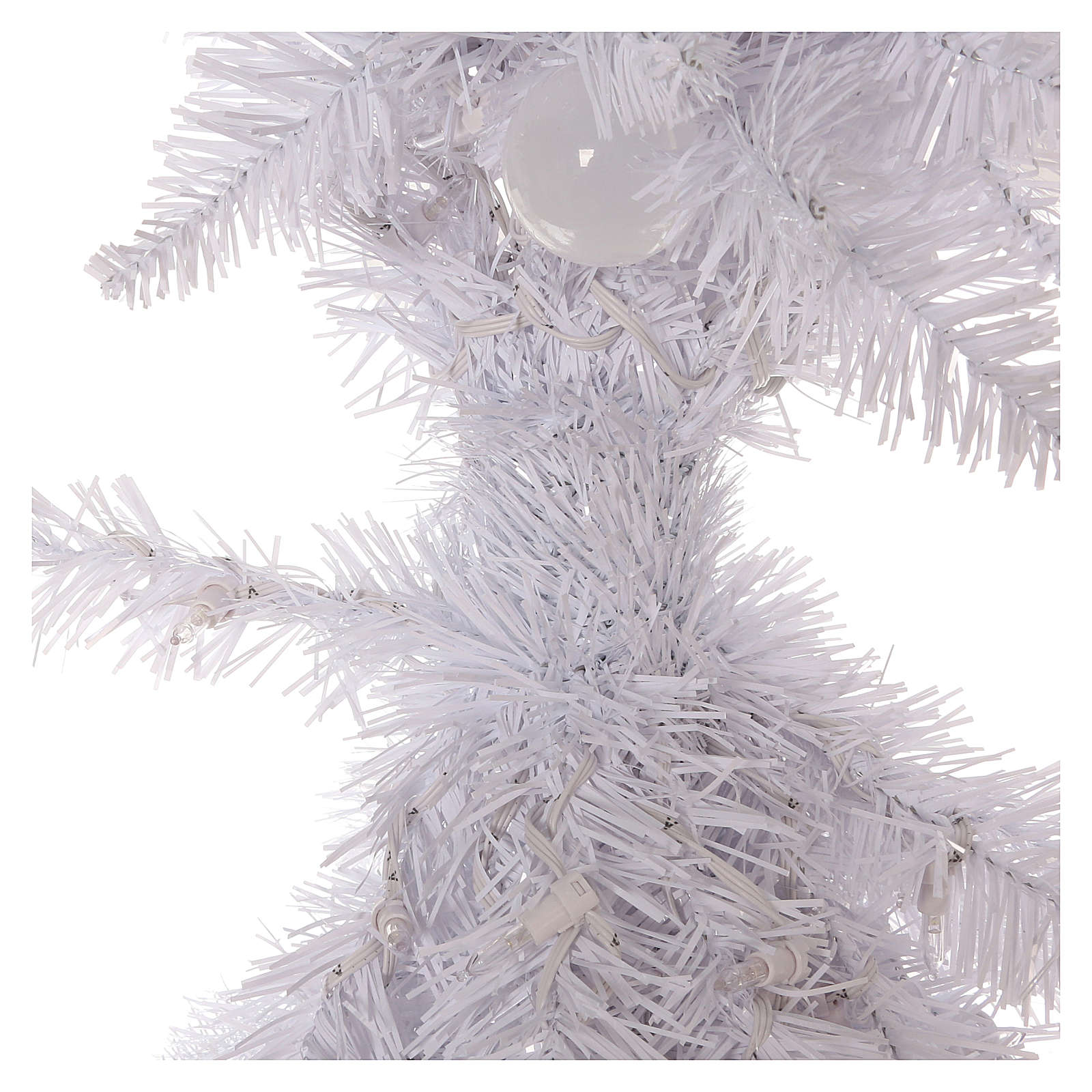 Arbol de Navidad 180 cm Fancy White blanco con punta modelable 300 ECO LED interior exterior 3