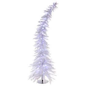 Sapin de Noël 180 cm Fancy White pointe pliable 300 lumières Led pour intérieur  et extérieur s1