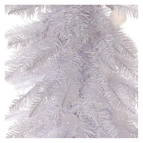 Sapin de Noël 180 cm Fancy White pointe pliable 300 lumières Led pour intérieur  et extérieur s2