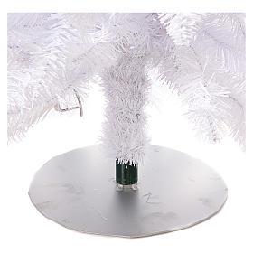 Sapin de Noël 180 cm Fancy White pointe pliable 300 lumières Led pour intérieur  et extérieur s7