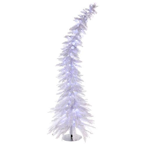 Sapin de Noël 180 cm Fancy White pointe pliable 300 lumières Led pour intérieur  et extérieur 1