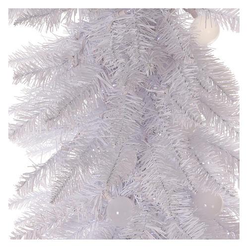 Sapin de Noël 180 cm Fancy White pointe pliable 300 lumières Led pour intérieur  et extérieur 2