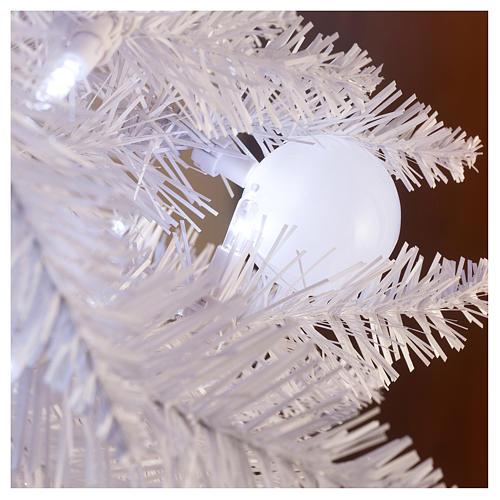Sapin de Noël 180 cm Fancy White pointe pliable 300 lumières Led pour intérieur  et extérieur 5
