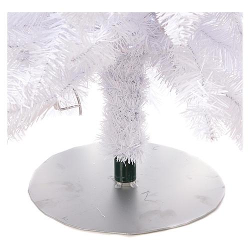 Sapin de Noël 180 cm Fancy White pointe pliable 300 lumières Led pour intérieur  et extérieur 7