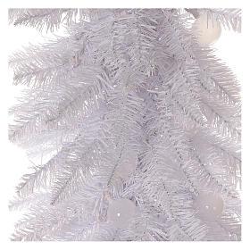 Albero di Natale 180 cm Fancy White abete bianco punta modellabile 300 eco led interno esterno s2