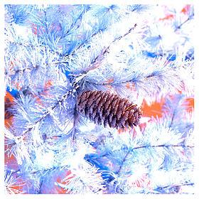 Arbol de Navidad 210 cm Victorian Blu escarcha piñas naturales 350 ECO LED para interior o exterior s6