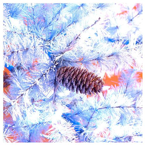 Arbol de Navidad 210 cm Victorian Blu escarcha piñas naturales 350 ECO LED para interior o exterior 6
