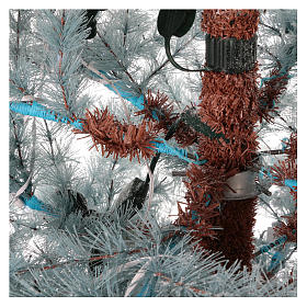 Albero di Natale 210 cm Victorian Blue brinato blu pigne naturali 350 eco led interno esterno s4