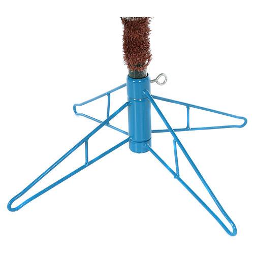 Albero di Natale 210 cm Victorian Blue brinato blu pigne naturali 350 eco led interno esterno 8