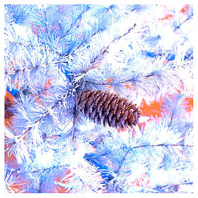 Christmas tree 210 cm in Victorian Blue with frosted blue pine cones 350 eco LED indoor outdoor  s6