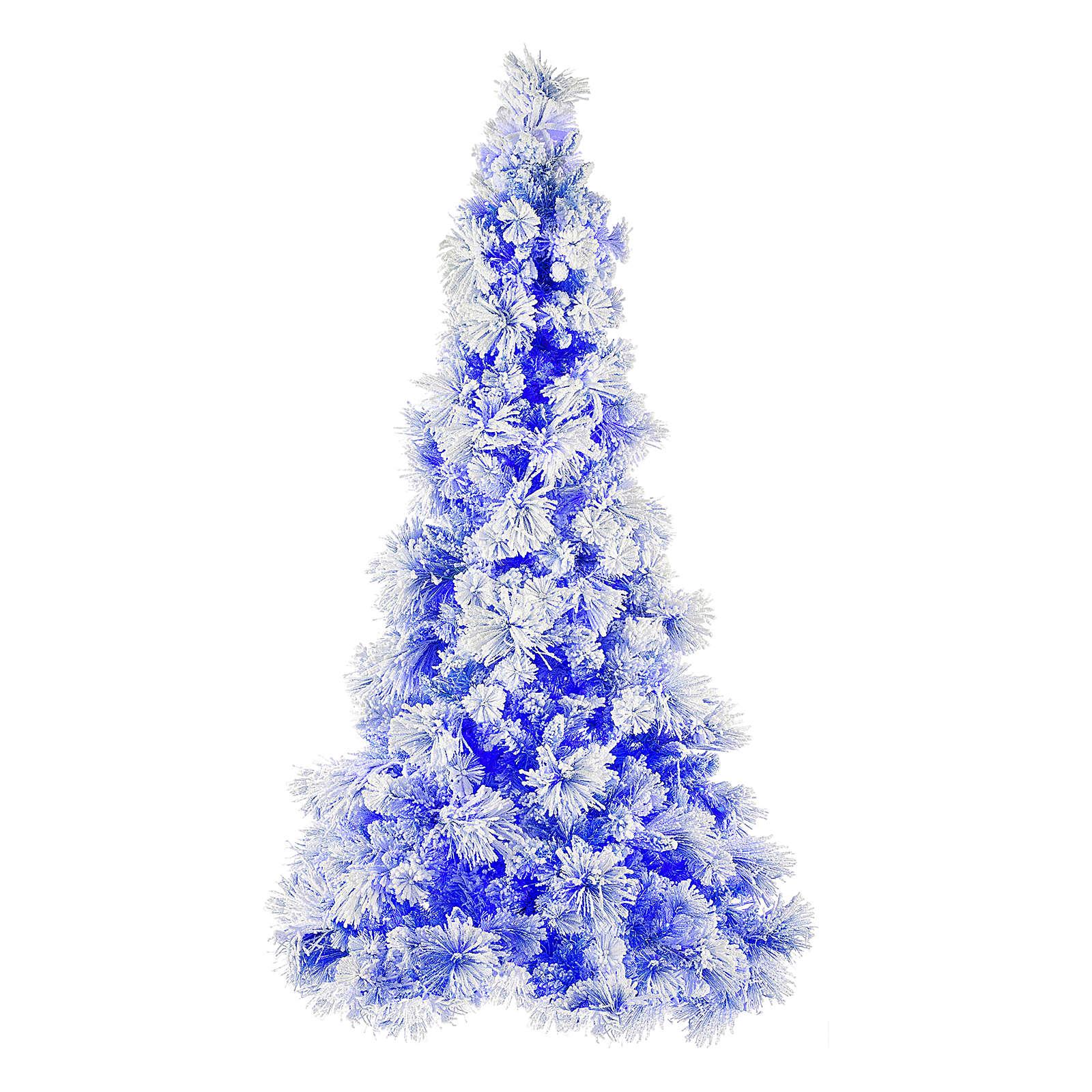 Blauer Weihnachtsbaum Mod. V.Burgundy 270cm Schnee und Zapfen 600 Lichter 3
