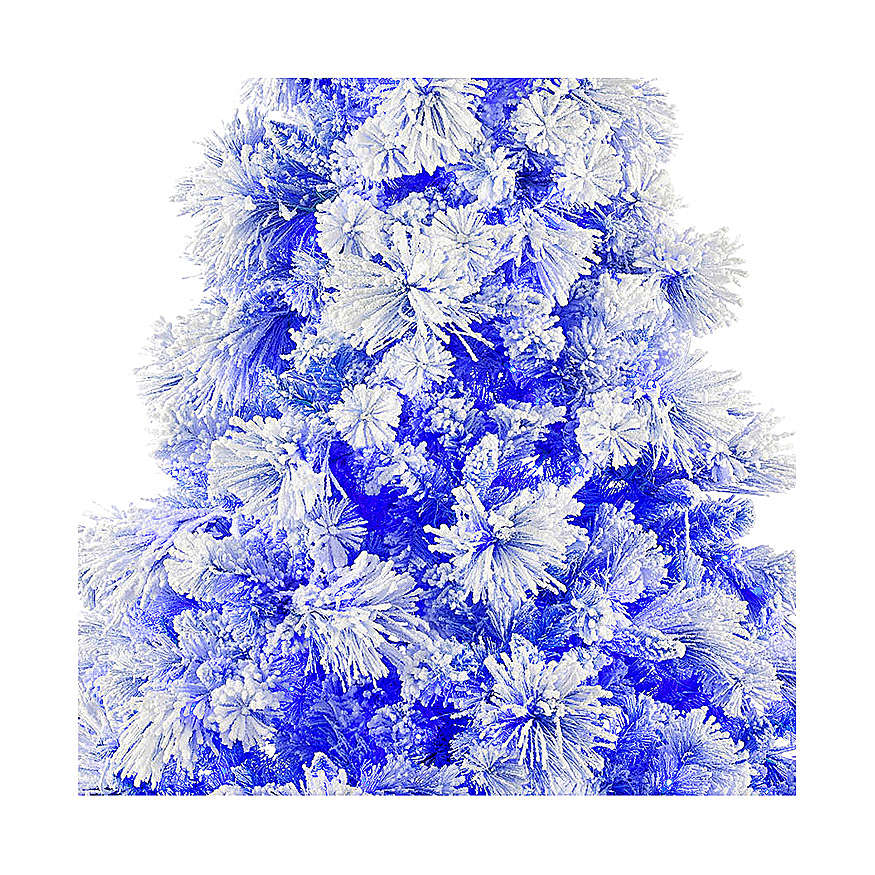 Christmas tree 270 cm V. Burgundy frosted and pine cones 600 external lights 3