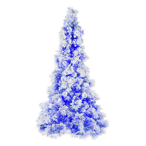 Christmas tree 270 cm V. Burgundy frosted and pine cones 600 external lights 1