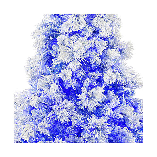 Christmas tree 270 cm V. Burgundy frosted and pine cones 600 external lights 2