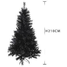 Albero di Natale Black Stone 210 cm s3