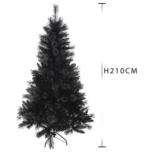 Albero di Natale Black Stone 210 cm 3