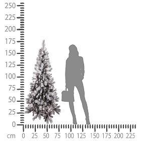 Árbol de Navidad 180 cm Silver Diamond s4