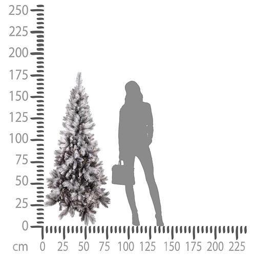 Albero di Natale 180 cm Silver Diamond 4