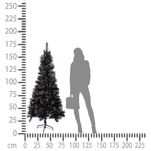 Árbol de Navidad Quartz Gris 180 cm 4