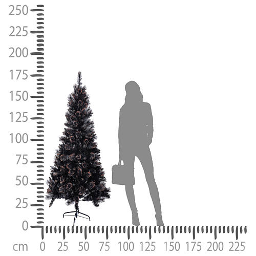 Sapin de Noël Quartz fumé 180 cm 4