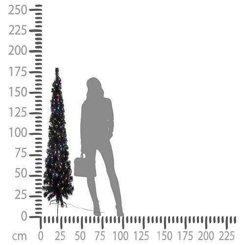 Árbol Black Shade multicolor LED 180 cm slim 5