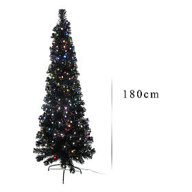 Albero Black Shade multicolor LED 180 cm slim s3