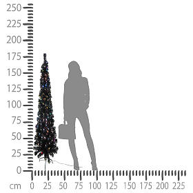 Albero Black Shade multicolor LED 180 cm slim s5