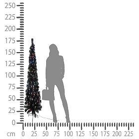 Árvore de Natal Black Shade LED multicores 180 cm slim s5