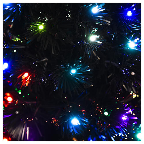 Árvore de Natal Black Shade LED multicores 180 cm slim 2